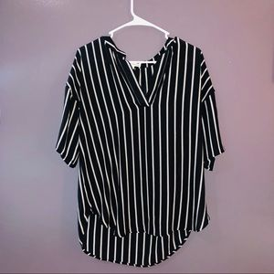 Marshall's mid sleeve V neck blouse